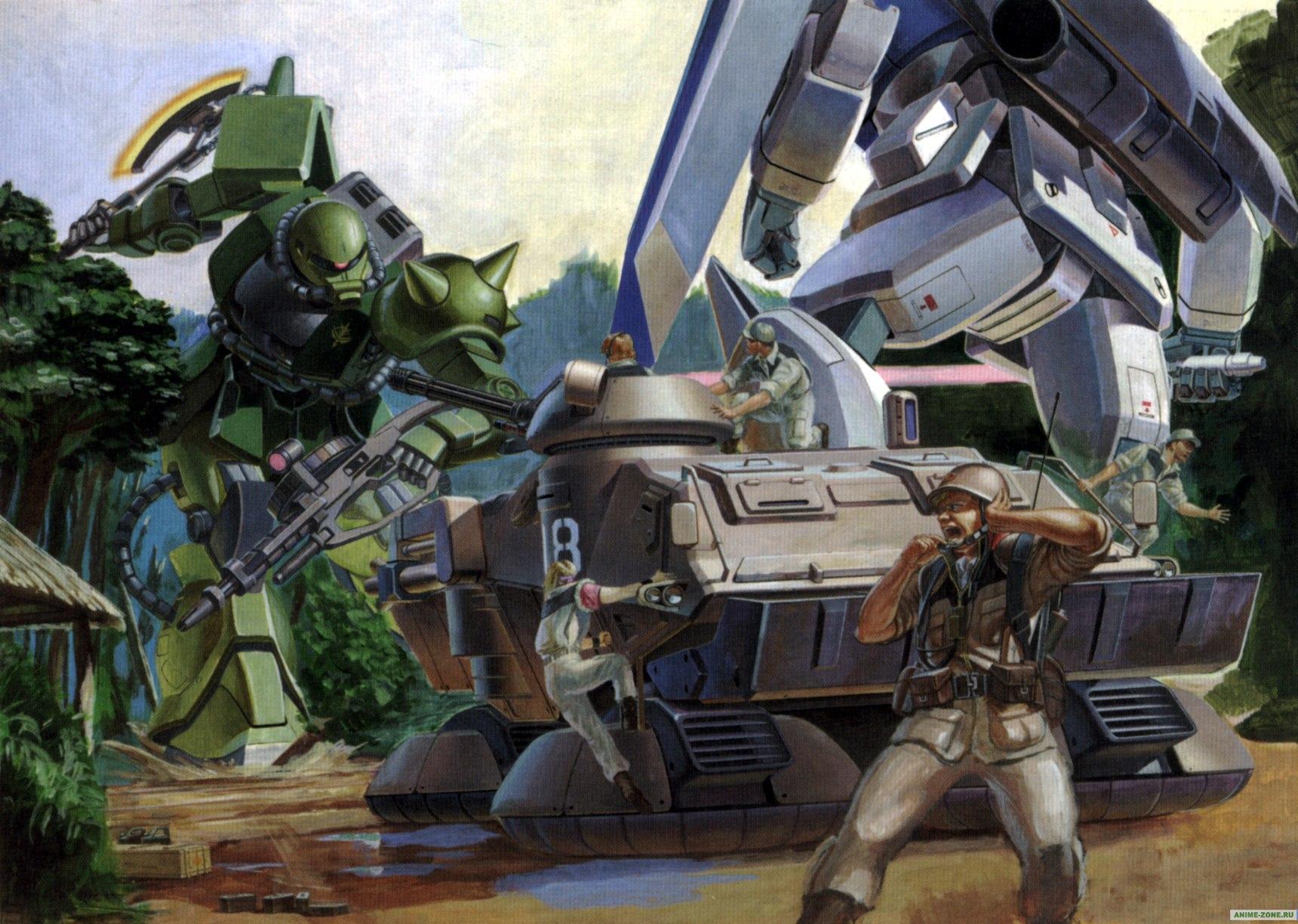 ... -Zone. Аниме обои к Mobile Suit Gundam: The 08th MS Team